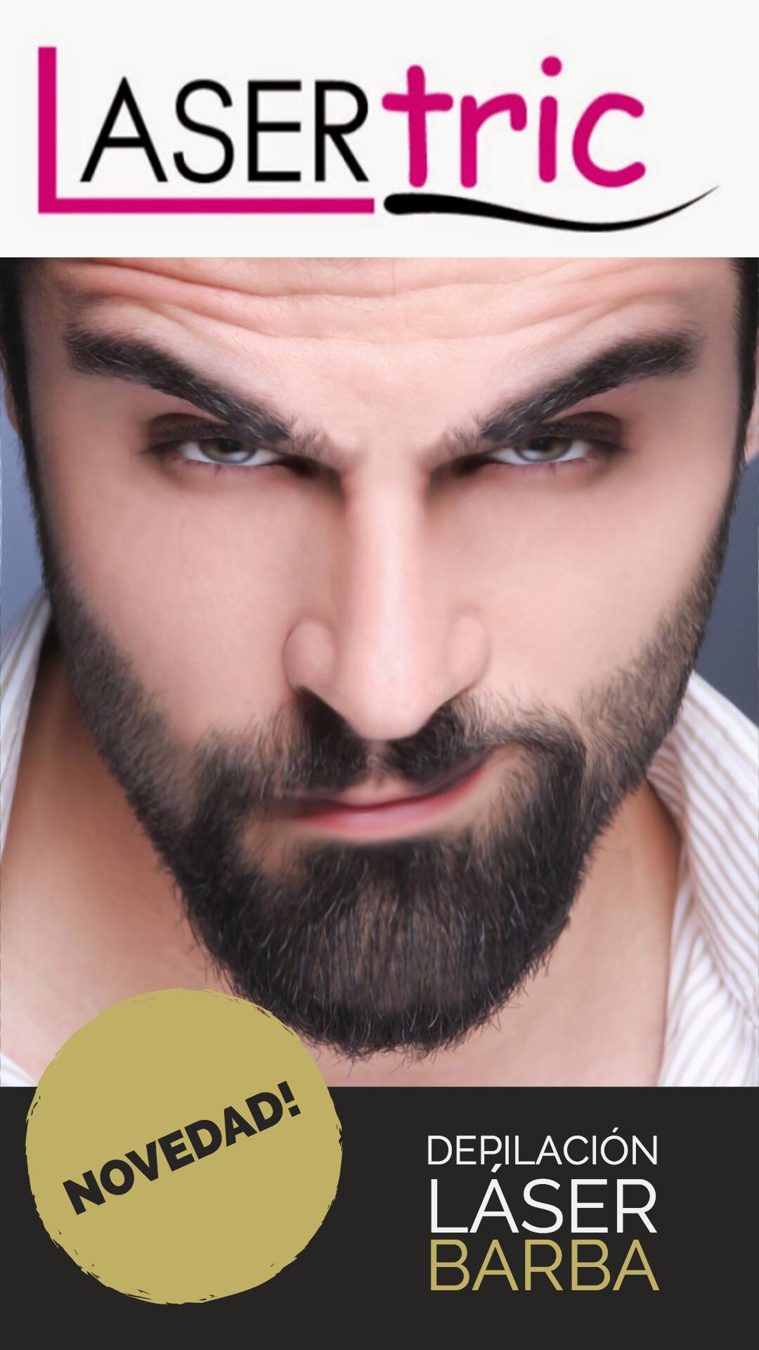 depilación láser en la barba para hombres